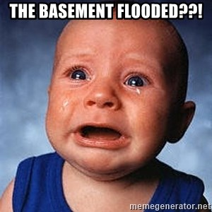 Crying Baby - The basement flooded??!