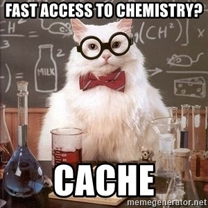 Chemistry Cat - FAST ACCESS TO CHEMISTRY? CaCHe