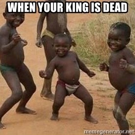 african children dancing - when your king is dead