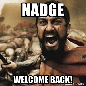 300 - Nadge Welcome back!