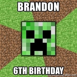 Minecraft Creeper - Brandon 6th Birthday