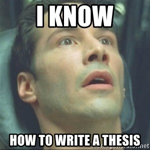i know kung fu - I KNOW HOW TO WRITE A THESIS