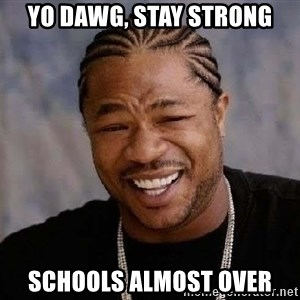 Yo Dawg - Yo dawg, stay strong Schools almost over