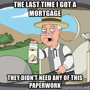 Family Guy Pepperidge Farm - The last time I got a mortgage they didn't need any of this paperwork