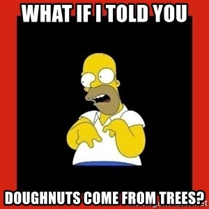 Homer retard - What if I told you doughnuts come from trees?
