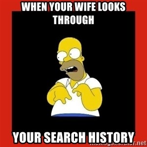 Homer retard - When your wife looks through Your search history