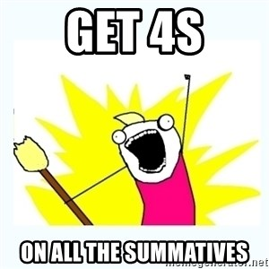 All the things - get 4s on all the summatives