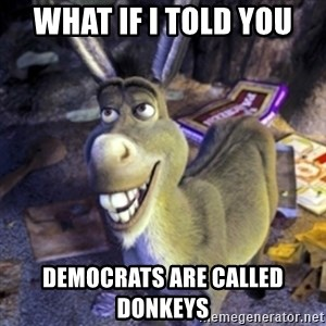 Donkey Shrek - What if I told you Democrats are called Donkeys