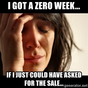 crying girl sad - I got a zero week... If i just could have asked for the sale...