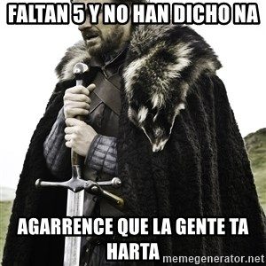 Sean Bean Game Of Thrones - faltan 5 y no han dicho na agarrence que la gente ta harta