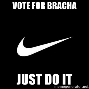 Nike swoosh - Vote for Bracha Just do it