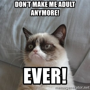 Grumpy cat good - Don't make me adult anymore! Ever!