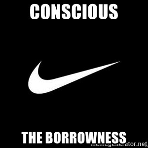 Nike swoosh - conscious the borrowness