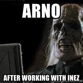 OP will surely deliver skeleton - Arno after working with Inez
