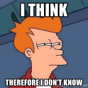 Futurama Fry - I think Therefore I don't know