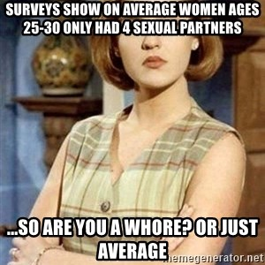 Chantal Andere - Surveys show on average women ages 25-30 only had 4 sexual partners ...so are you a whore? Or just average
