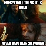 Never Have I Been So Wrong - Everytime I think it is over never have been so wrong