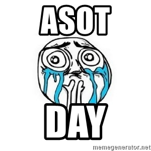 Crying face - ASOT DAY
