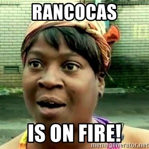 oh lord jesus it's a fire! - rancocas is on fire!