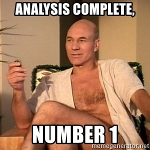 Sexual Picard - Analysis complete, Number 1