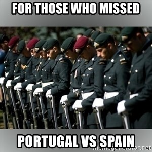 Moment Of Silence - for those who missed  portugal vs Spain