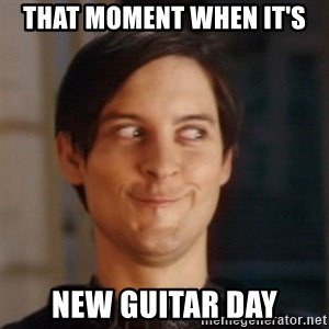 Peter Parker Spider Man - That moment when it's New Guitar Day