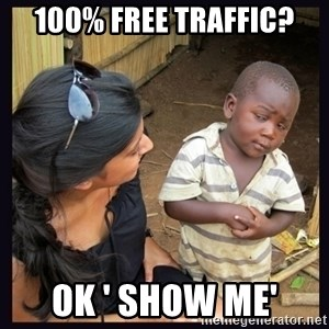 Skeptical third-world kid - 100% Free Traffic? OK ' Show Me'