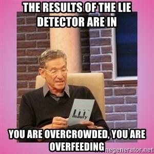 MAURY PV - The results of the lie detector are in You are overcrowded, you are overfeeding