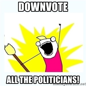 All the things - Downvote all the politicians!