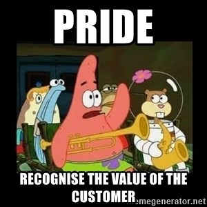 Patrick Star Instrument - PRIDE recognise the value of the customer