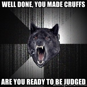 Insanity Wolf - Well done, you made CRUFFS Are you ready to be judged