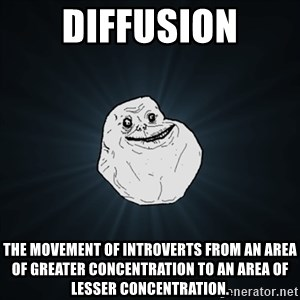 Forever Alone Date Myself Fail Life - Diffusion The movement of Introverts from an Area of Greater Concentration to an area of lesser concentration.