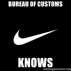 Nike swoosh - Bureau of Customs Knows