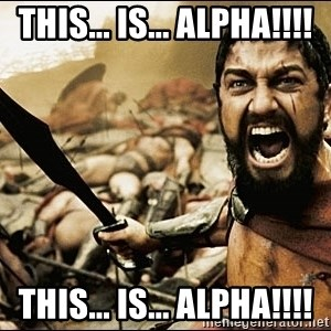 This Is Sparta Meme - THIS... IS... ALPHA!!!! THIS... IS... ALPHA!!!!