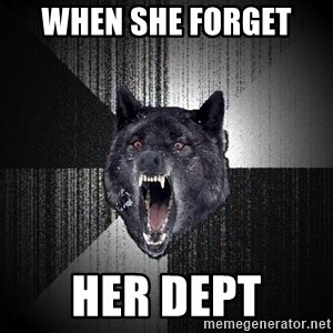 Insanity Wolf - when she forget  her dept