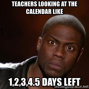 kevin hart nigga - Teachers looking at the calendar like 1,2,3,4.5 days left