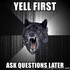 Insanity Wolf - Yell first Ask questions later
