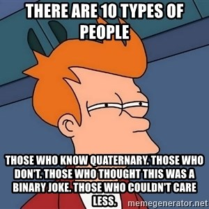 Futurama Fry - There are 10 types of people Those who know Quaternary. Those who don't. Those who thought this was a binary joke. Those who couldn't care less.