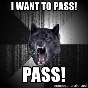 Insanity Wolf - I want to pass!  Pass!