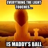The Lion King - Everything the light touches.... Is Maddy's ball