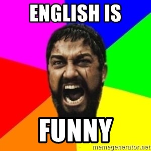 sparta - english is funny