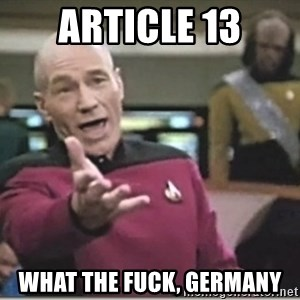 star trek wtf - Article 13 What the fuck, germany