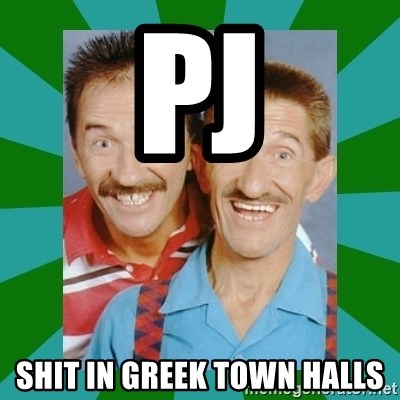 chuckle brothers - PJ  SHIT IN GREEK TOWN HALLS