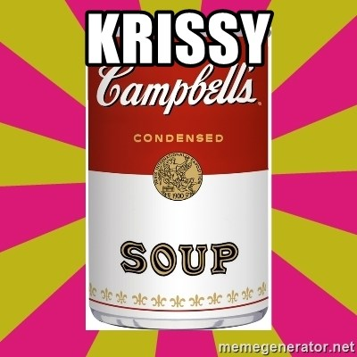 College Campbells Soup Can - Krissy