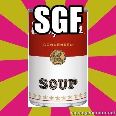 College Campbells Soup Can - sgf