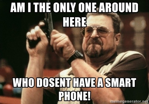 Walter Sobchak with gun - am i the only one around here who dosent have a smart phone!