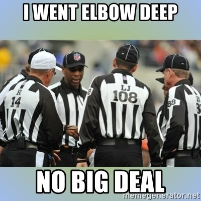 NFL Ref Meeting - I WENT ELBOW DEEP NO BIG DEAL