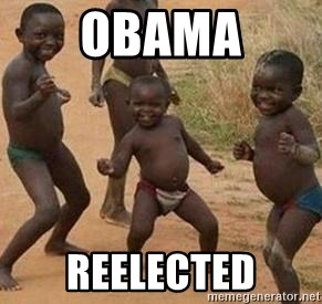 african children dancing - OBAMA REELECTED