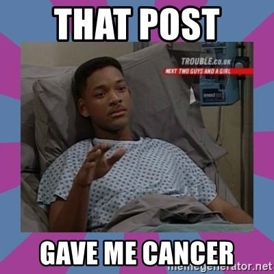 Will Smith aids - That post  gave me cancer