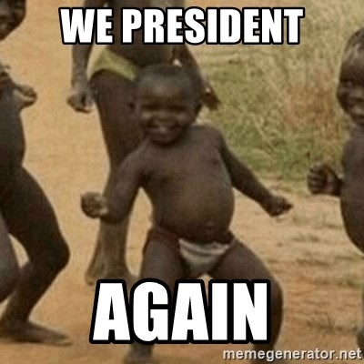 Little Black Kid - WE PRESIDENT AGAIN